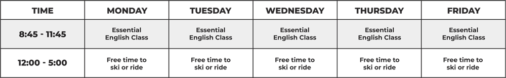 General English Schedule New